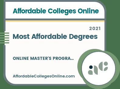 Affordable Colleges Online Master's Badge