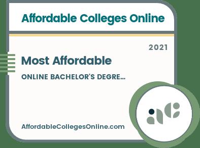 Affordable Online Bachelor's Degrees badge