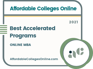 Best Accelerated Online MBA Programs Badge