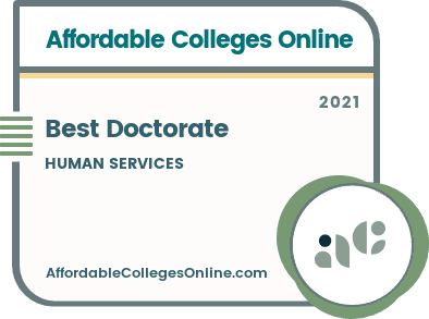 Best Doctorate in Human Services badge