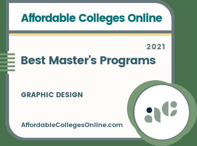 Best Master's in Graphic Design Programs badge