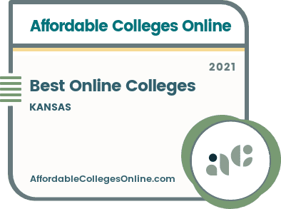 Best Online Colleges in Kansas badge