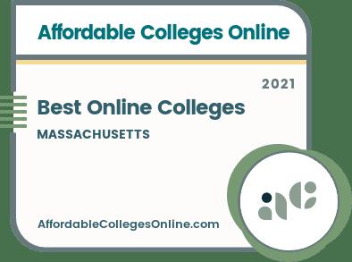 Best Online Colleges in Massachusetts badge