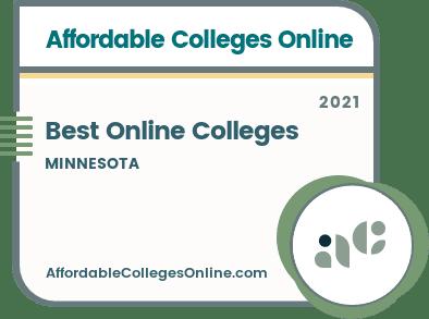 Best Online Colleges in Minnesota badge