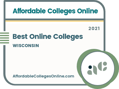 Best Online Colleges in Wisconsin badge