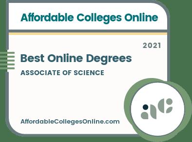 Best Online Associate of Science Degrees badge