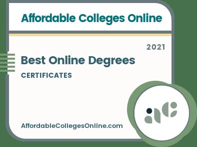 Best Online Certificate Degrees badge