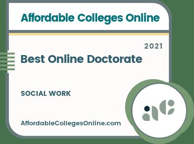 best Online Doctorate in Social Work Badge