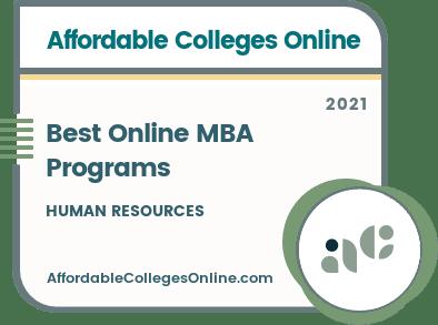 Best Online MBA Programs in Human Resources badge