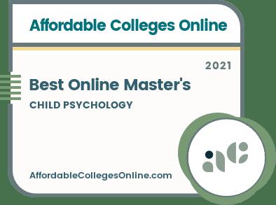 Best Online Master's in Child Psychology badge
