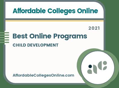 Best Online Child Development Programs badge