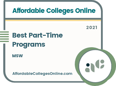 Best Part-Time MSW Programs badge