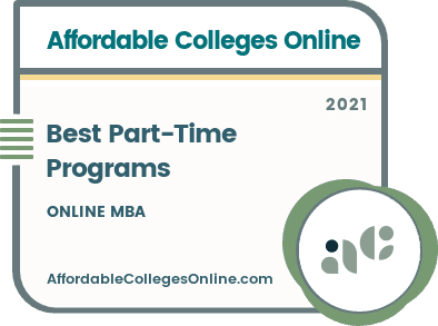 Best Part-Time Online MBA Programs badge