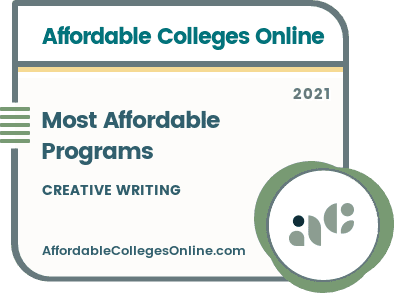 Affordable Master's in Creative Writing Programs badge
