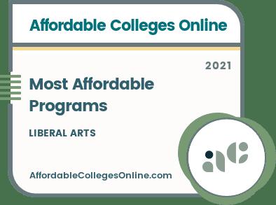 Most Affordable Liberal Arts Programs badge