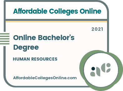 Online Bachelor's in Human Resources Degrees Badge