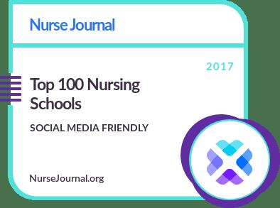 Top 100 Social Media Friendly Nursing Schools Badge