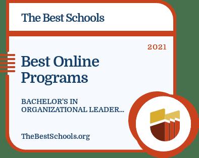 Best Online Bachelor's in Organizational Leadership Degree Program badge