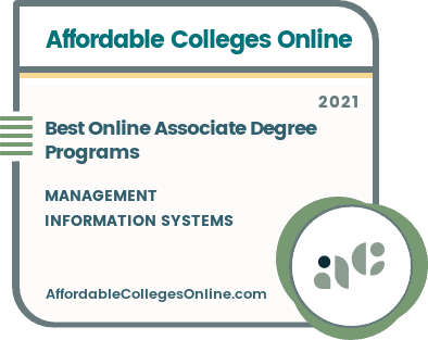 Best Online Management Information Systems Associate Degree badge