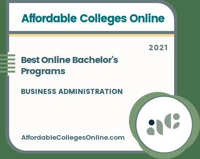 Best Online Bachelor's Degree Programs in Business Administration badge