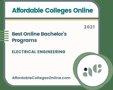 Online Bachelor's in Electrical Engineering Programs Badge