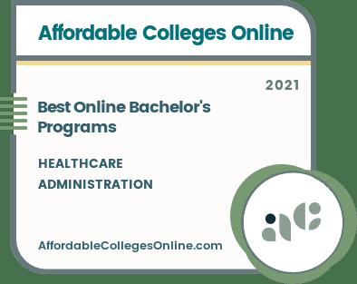 Best Online Bachelor's Degree Programs in Healthcare Administration badge