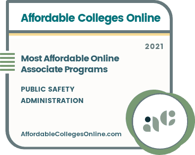 Most Affordable Online Associate in Public Safety Administration Programs badge
