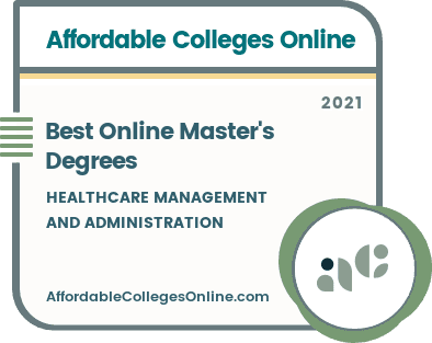 Best Online Master's in Healthcare Management and Administration Badge
