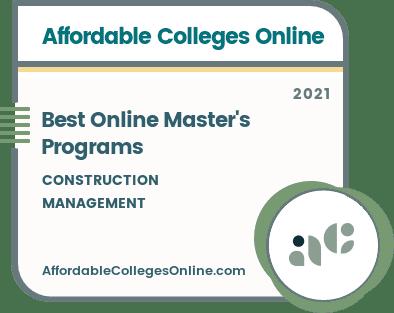 Best Online Master's Programs in Construction Management badge