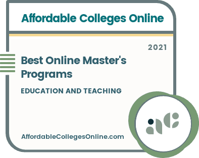 Best Online Master's Programs in Education and Teaching Badge