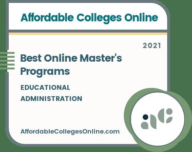 Best Online Master's in Educational Administration Programs Badge