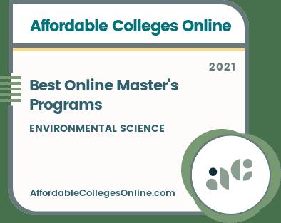 Best Online Master's Programs in Environmental Science badge