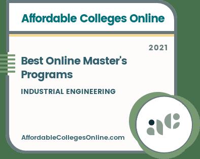 Best Online Master's Programs in Industrial Engineering badge