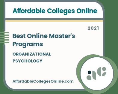 Best Online Master's in Industrial Organizational Psychology Programs badge