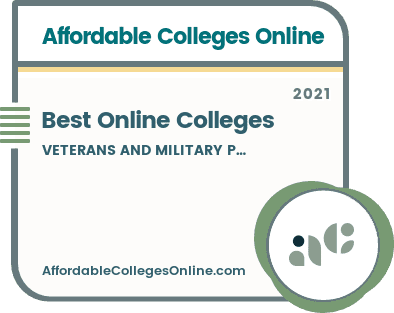 Online Colleges for Veterans and Military Personnel Badge