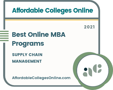 Best Online MBA in Supply Chain Management Programs badge