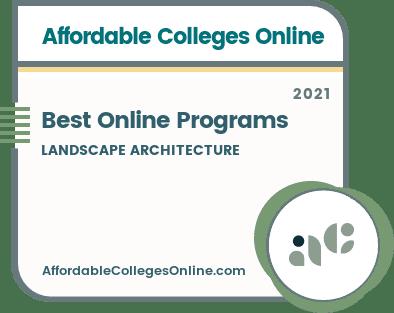 Best Online Landscape Architecture Programs Badge