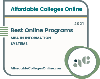 Best Online MBA in Information Systems Programs badge