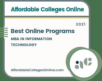 Best Online MBA in Information Technology Programs badge