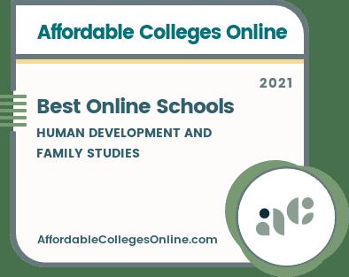 Best Online Human Development and Family Studies Schools badge