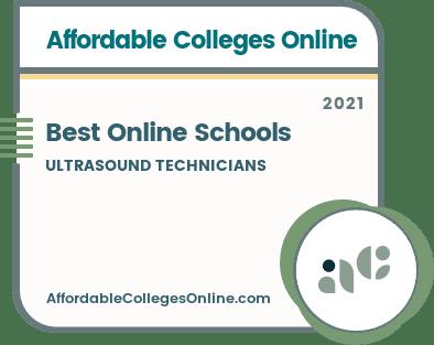 Best Online Ultrasound Technician Schools Badge