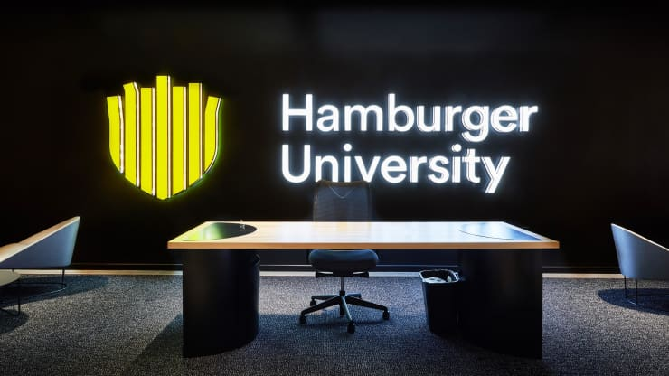 Hamburger University classroom