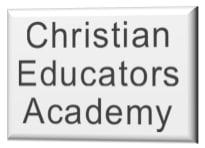 Image of Christian Educators Academy logo