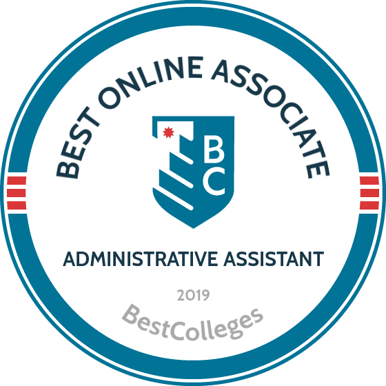 badge awarded by Bestcolleges.com for best online associate degrees