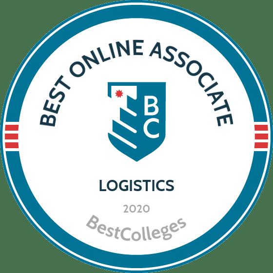 Best Online Associate's Degree in Logistics Badge