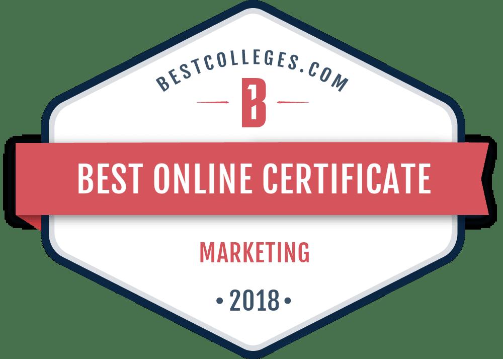the best online graduate certificate in marketing programs for 2018