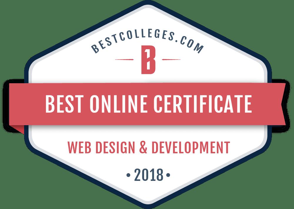 best online certificate in web design development programs for 2018