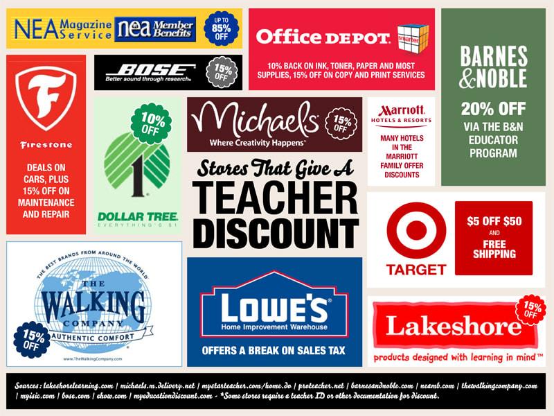 Florida Teacher Discounts >> 100 Stores That Give A Teacher Discount