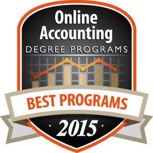 Badge - Online Accounting Degree Programs 2015