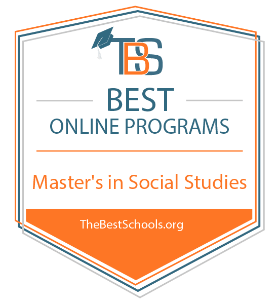 Best Online Master's in Social Studies Programs Badge